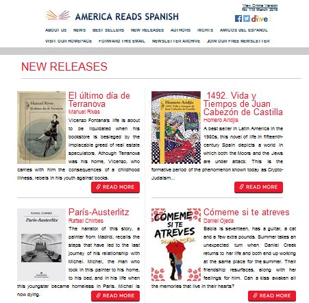 America Reads Spanish newsletter is available online!